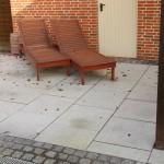 Granitplatten mit Grauwacke- Kleinpflaster